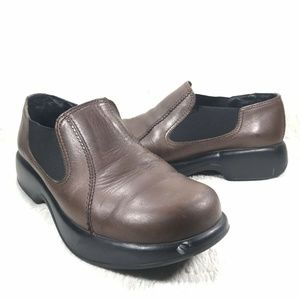 Dansko Clogs Brown Leather Slip On Size 40 (9-10)